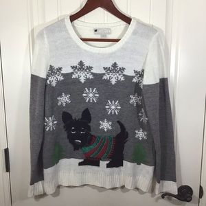 Carolyn Taylor Scottie Dog Christmas Sweater.
